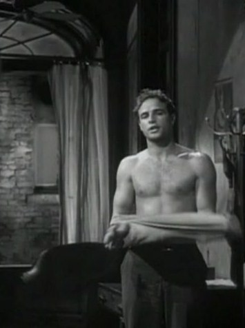 marlon brando shirtless streetcar